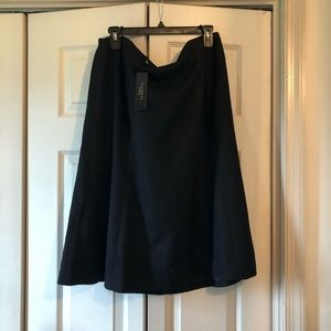 Talbots Woman Petite Black Wool  A Line Skirt 20W